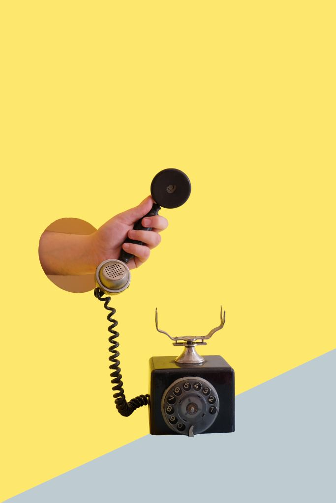 Old handset phone